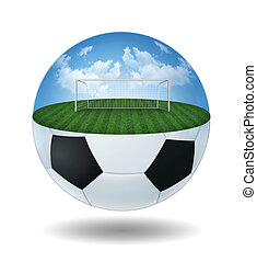 Half ball with field