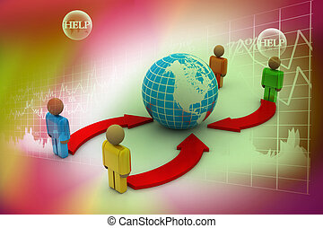 concept of interaction of different groups of people