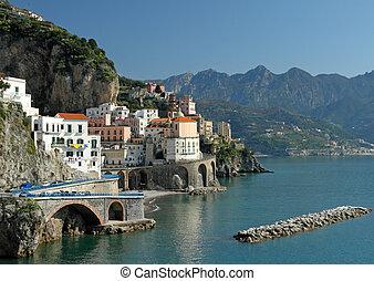 wonderful Amalfi Coast - Atrani village on famous italian...