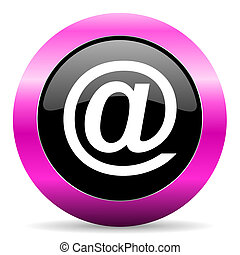 email pink glossy icon - web glossy pushbutton