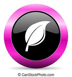 nature pink glossy icon - web glossy pushbutton