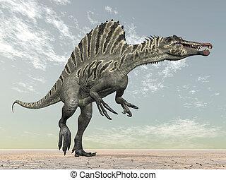Dinosaur Spinosaurus - Computer generated 3D illustration...