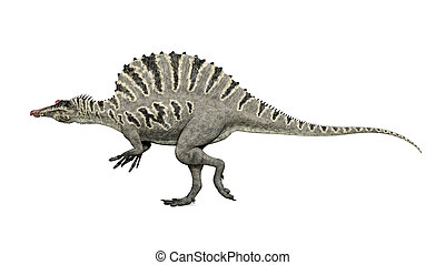 Dinosaur Spinosaurus - Computer generated 3D illustration...