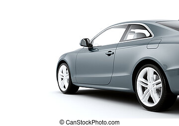 CG render of generic luxury coupe car - Isolated sport car...