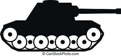 Panzer icon on white background