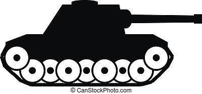 Panzer icon on white background.