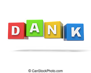 Cubes with word - 3d cubes with word u201Cdanku201D isolated...