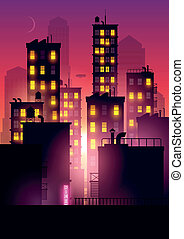 Sunset Glow Over The City