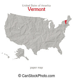 vermont - United States of America map and Vermont state...