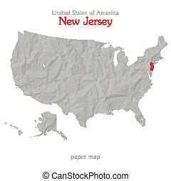 new jersey - United States of America map and New Jersey...