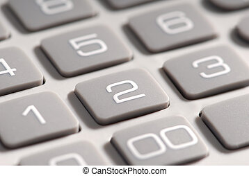 Calculator macro - Macro detail of the buttons on a...