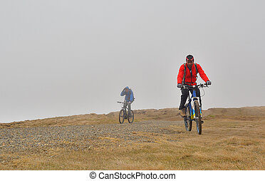 mountain biking during bad weather