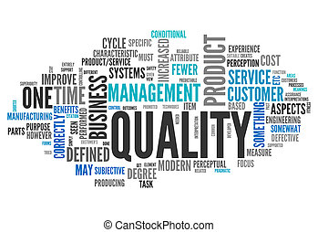 Word Cloud Quality - Word Cloud with Quality related tags
