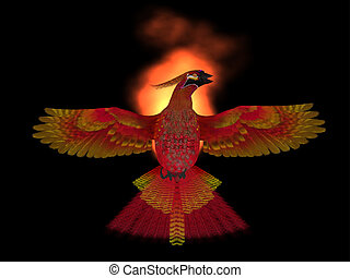 Phoenix Bird Fire - The Phoenix Bird is a symbol of new...