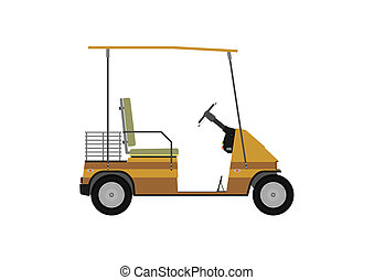 Golf cart - Silhouette of golf cart or other electric...