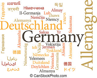 Germany in word clouds - Vector illustration of Germany in...