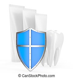 Tooth, shield, toothpaste
