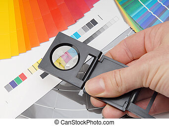 Linen tester - Using a linen tester. Characteristic image...