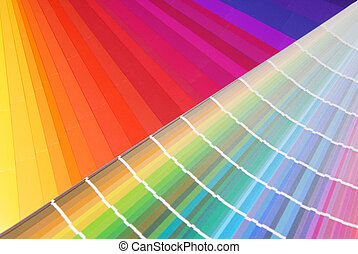 color samples - Characteristic image for the pre-press and...