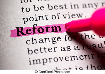 reform - Fake Dictionary, Dictionary definition of the word...