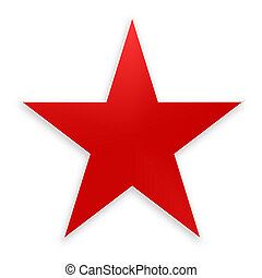 red star on white background  - red star