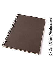 Black Loose-leaf - Black loose-leaf on white background
