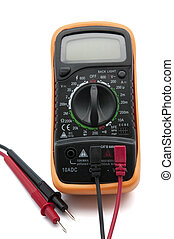 electric meter on a white background