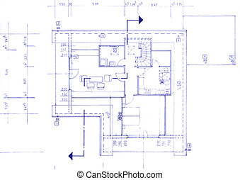 Blueprint of my own house - beautiful background image