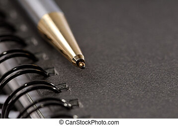 Black Loose-leaf - Black loose-leaf with pencil Great...