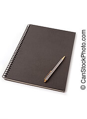 Black Loose-leaf - Black loose-leaf with pencil on white...