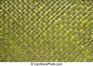 Rattan strukture background - Original handmade green...