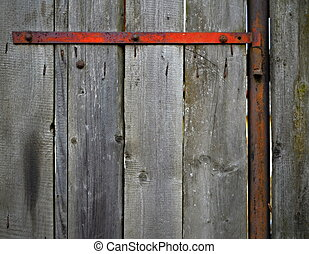 old wooden gate - background or texture old wooden gate