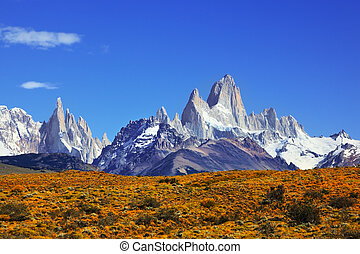 The Mount Fitzroy in Patagonia - The magnificent mountain...