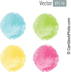 Vector watercolor stains with space for text