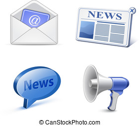 News icon set Vector illustration