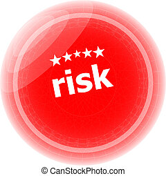 risk red rubber stamp over a white background
