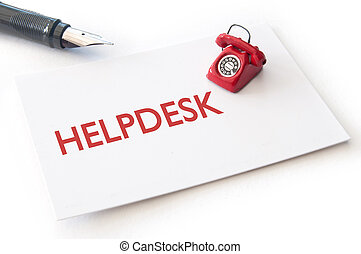 Helpdesk contact cards with small phone