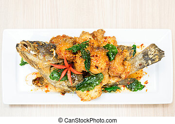 deep fried gruper fish - deep fried sweet and sour spicy...