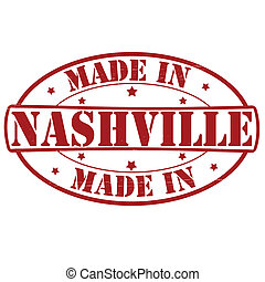 Made in Nashville - Stamp with text made in Nashville...