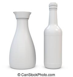 3d blank bottles