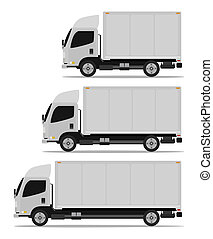 truck cargo set three models