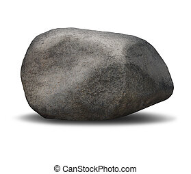 Rock Boulder - Rock boulder object on a white background as...