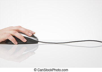 Handy Mouse  - hand on computer mouse