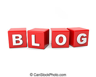Inscription on the cubes of red blog