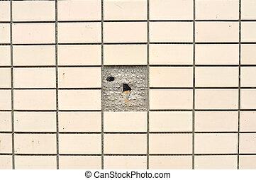 Broken brick wall, pattern