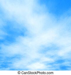 White clouds on blue