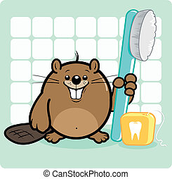 Dental hygiene beaver