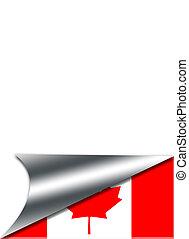 Folded paper Canada.