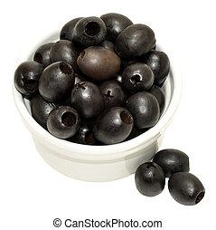dénoyauté,  olives, noir
