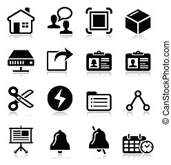 Web, internet vector black icons